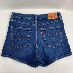 Levi's size 28 Blue Denim Mid-rise Shorts